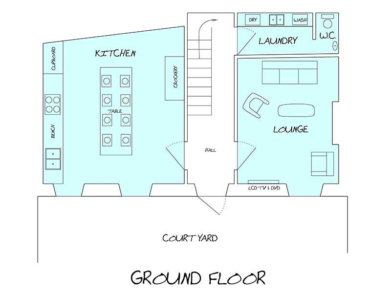 Floorplan of Holiday house in france_ground_floor