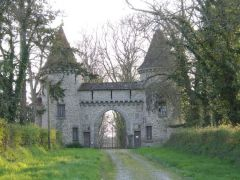 A local private chateau gates