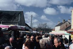 The famous Les Foire des Herolles market is reported to be the largest outdoor market in France